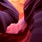 Focus on an alternative Antelope Canyon view