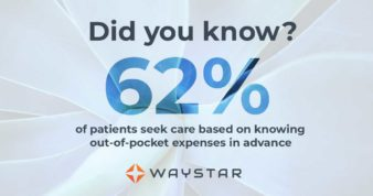 The number of patients who seek care based on knowing out-of-pocket expenses in advance