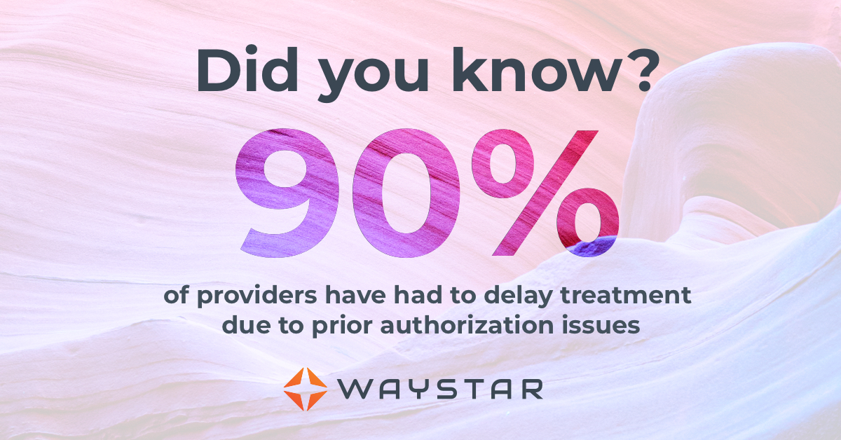 90% of provider have had to delay treatment due to prior authorization