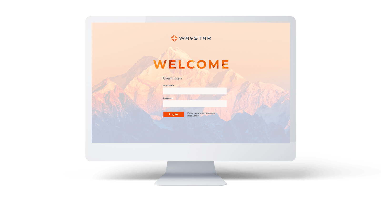 Waystar Login Screen Desktop