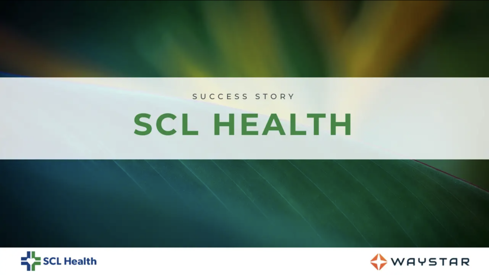 Success story: SCL Health