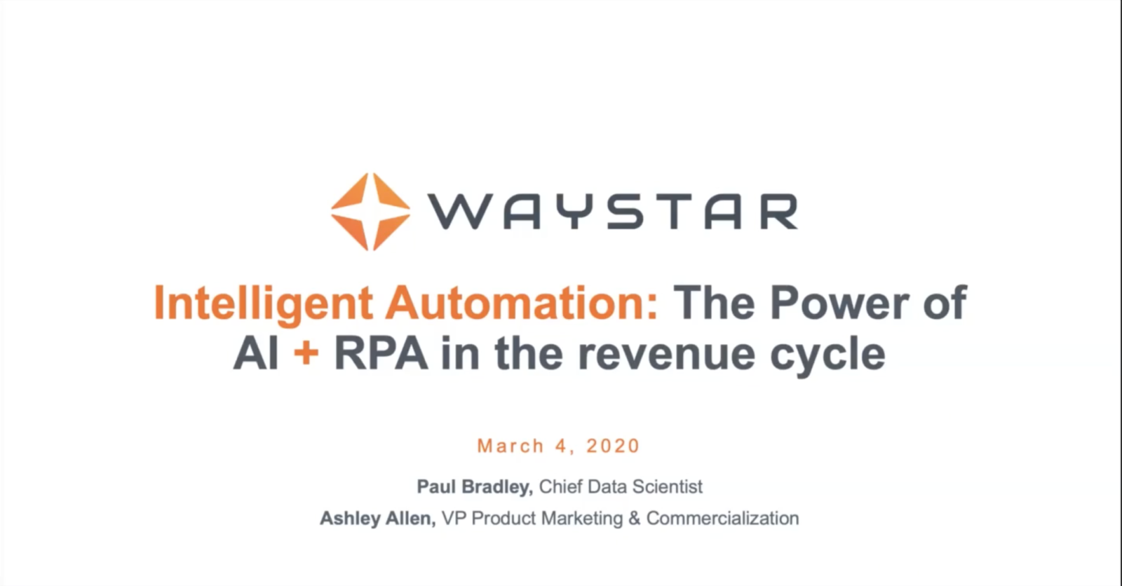 Webinar: The power of AI and RPA in the revenue cycle