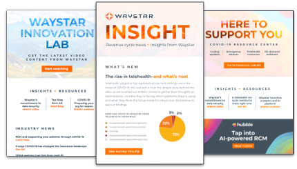 Waystar Newsletter Sign Up