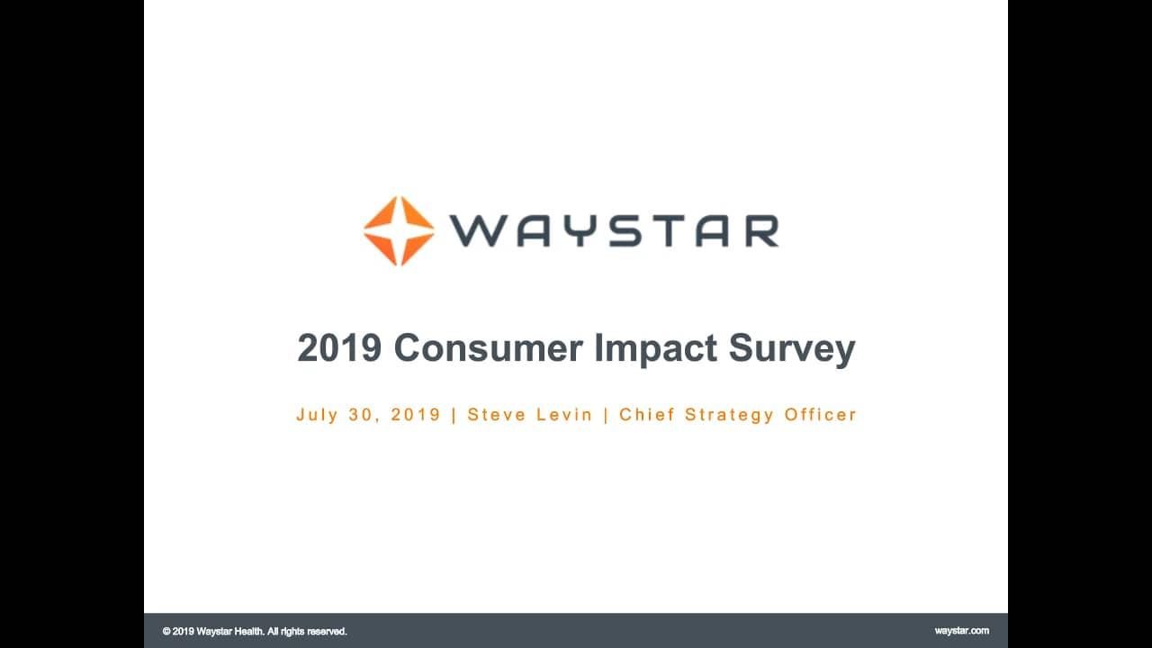Webinar: 2019 Consumer Impact Survey