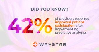 42% of patients experienced patient satisfacdtion