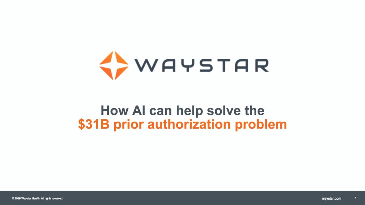 Webinar: How AI can help solve the $31B prior authorization problem
