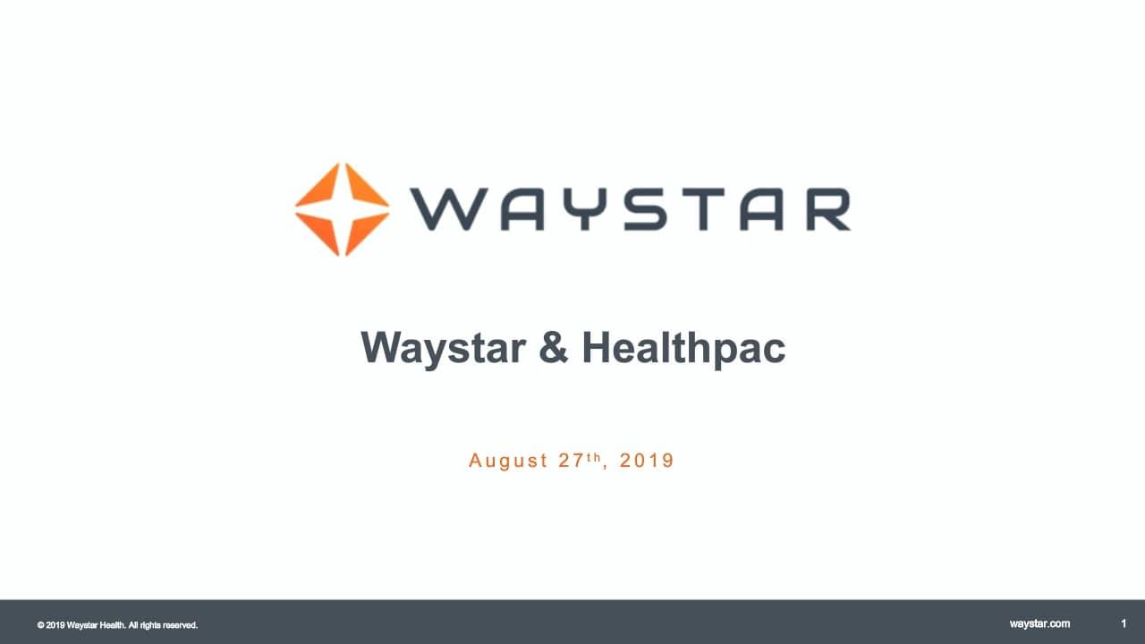 Webinar: Waystar & Healthpac